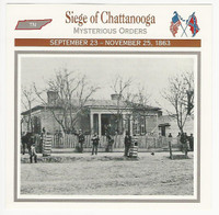 1995 Atlas, Civil War Cards, #113.07 Siege of Chattanooga