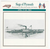1995 Atlas, Civil War Cards, #113.08 Siege of Plymouth, CSS Albemarle