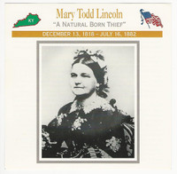 1995 Atlas, Civil War Cards, #114.03 Mary Todd Lincoln