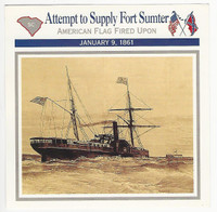 1995 Atlas, Civil War Cards, #114.04 Attempt to Supply Fort Sumter