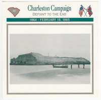 1995 Atlas, Civil War Cards, #115.04 Charleston Campaign, Fort Sumter
