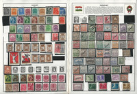Hungary Stamp Collection on 70 Harris Album Pages