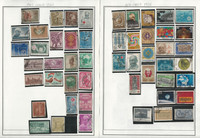 India & Iceland Stamp Collection on 24 Harris Album Pages
