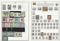 Iraq, Indonesia Stamp Collection on 28 Harris Album Pages