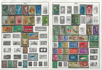 Ireland, Israel Stamp Collection on 28 Harris Album Pages