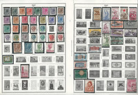 Italy, Ivory Coast, Jamaica Stamp Collection on 26 Harris Album Pages