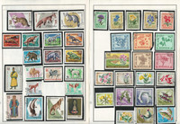 Mongolia Stamp Collection on 60 Harris Album Pages