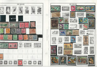 New Zealand & British Stamp Collection on 28 Harris Album Pages