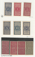 Germany Revenue Stamp, #AF12-14, AF15-17, AF51m AF24,26, 28 Mint, DKZ