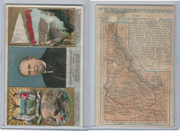 N133 Duke, State Governors, Coats of Arms Tri-Fold, 1888, Idaho, Stevenson (B)