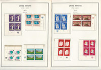 United Nations Stamp Collection, Geneva #1-14 NH Blocks 4 Minkus Pages, JFZ