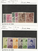 Indonesia Riau, Postage Stamp, #13//40 Mint Hinged, 1954-60, JFZ