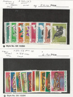 Indonesia West Irian, Postage Stamp, #40-7, 50-8 Mint NH, 59 Used, 1968-70, JFZ