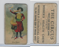 E44 Messer's Charcoal Gum, The Circus, 1910, Fire Eater