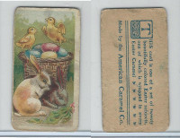 E45 American Caramel, Easter Subjects, 1920's, 2 Rabbits 2 Chicks Basket