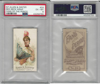 N7 Allen & Ginter, Fans of the Period, 1889, #24, PSA 6 EXMT