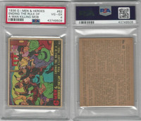 R60 Gum Inc, G-Men and Heroes, 1936, #62 Ending The Rule, PSA 4 VGEX