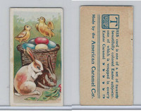 E45 American Caramel, Easter Subjects, 1920's, 2 Rabbits 2 Chicks Basket (B)
