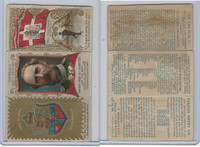 N126 Duke, Rulers, Flags, Coats of Arms Tri-Fold, 1889, Denmark, Christian (B)