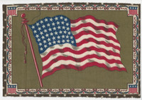 1910 Tobacco B3 National Flag,  Felt (9X12 Inches) United States