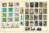Albania & Ajman Stamp Collection on 30 Scott Album Pages To 1981