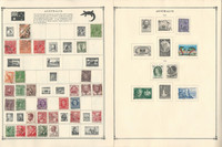 Australia Stamp Collection on 20 Scott Album Pages To 1982