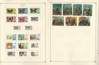 Bhutan & Burundi Stamp Collection on 30 Scott Album Pages To 1981