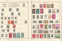 Argentina & Columbia Stamp Collection on 20 Scott Album Pages To 1981