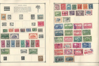 Costa Rica Stamp Collection on 12 Scott Album Pages To 1981