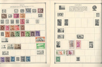 Dahomey, Djibouti, Egypt Stamp Collection on 21 Scott Album Pages To 1981