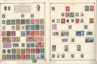 France Stamp Collection on 24 Scott Album Pages To 1981