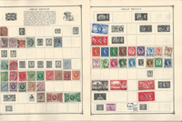 Great Britain & Channel Stamp Collection on 24 Scott Album Pages To 1981