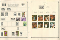 Ghana & Guinea Stamp Collection on 35 Scott Album Pages To 1981