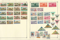 Maluku Selatan Indonesia Stamp Collection on 3 Scott Album Pages To 1981