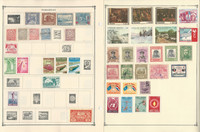 Paraguay & Peru Stamp Collection on 14 Scott Album Pages To 1981