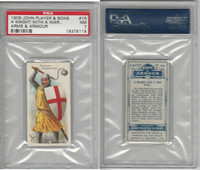 P72-15 Player, Arms & Armour, 1909, #15 Knight With War Flail, PSA 7 NM