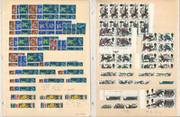Great Britain Mint NH Stock on 5 Pages, Queen Elizabeth Singles & Blocks, DKZ