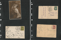 Latvia Old Postcard Collection, 6 Different all with Stamps & Postmarks, DKZ