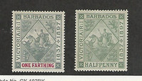 Barbados, Postage Stamp, #81-82 WMK1 Mint Hinged, 1897, JFZ