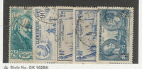 France, Postage Stamp, #370-374 Used, 1939, JFZ