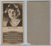 E160-2 Ghirardelli's, Motion Picture Stars, 1920's, Betty Compson