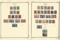 Germany Stamp Collection 1902-1920 on 2 Scott Specialty Pages, DKZ