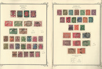 Germany Stamp Collection 1919-22 on 2 Scott Specialty Pages, DKZ