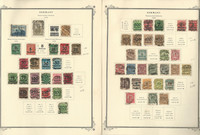 Germany Stamp Collection 1923 on 2 Scott Specialty Pages, DKZ