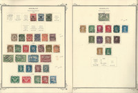 Germany Stamp Collection 1923-27 on 2 Scott Specialty Pages, DKZ
