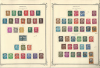 Germany Stamp Collection 1928-36 on 2 Scott Specialty Pages, DKZ