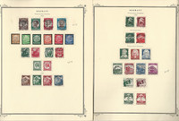 Germany Stamp Collection 1933-41 on 4 Scott Specialty Pages, WW II, DKZ