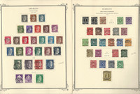 Germany Stamp Collection 1941-46 on 2 Scott Specialty Pages, WW II, DKZ