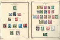 Germany Stamp Collection 1952-57 on 4 Scott Specialty Pages, DKZ