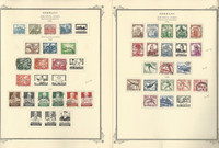 Germany Stamp Collection 1932-36 on 2 Scott Specialty Pages, Semi's, DKZ